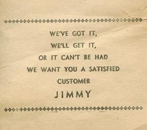 Jim Schmitz receipt